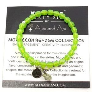 Alex And Ani Green Beaded Wrap Bracelet